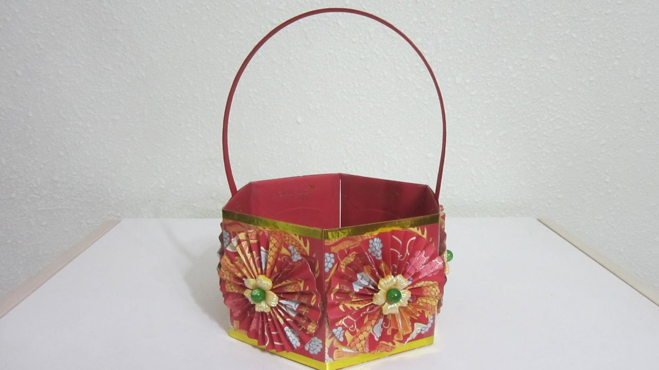 Cny tutorial no 47 hongbao basket youtube - Magnificent new year office decoration ...
