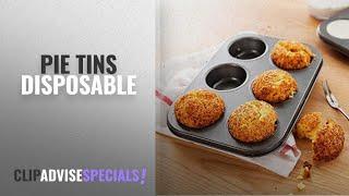 Top 10 Pie Tins Disposable [2018]: Kurtzy Carbon Steel 6 Cups Non Stick Baking Pan Bakeware Moulds