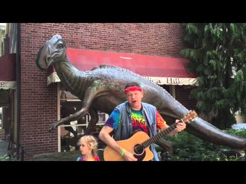 Jersey Dinosaurs song about Hadrosaurus - rock-n-roll for kids - live from Haddonfield, NJ
