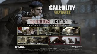New DLC 1 Zombies Gameplay and Multiplayer/War Mode in Resistance DLC 1 for Call of Duty: WWII
