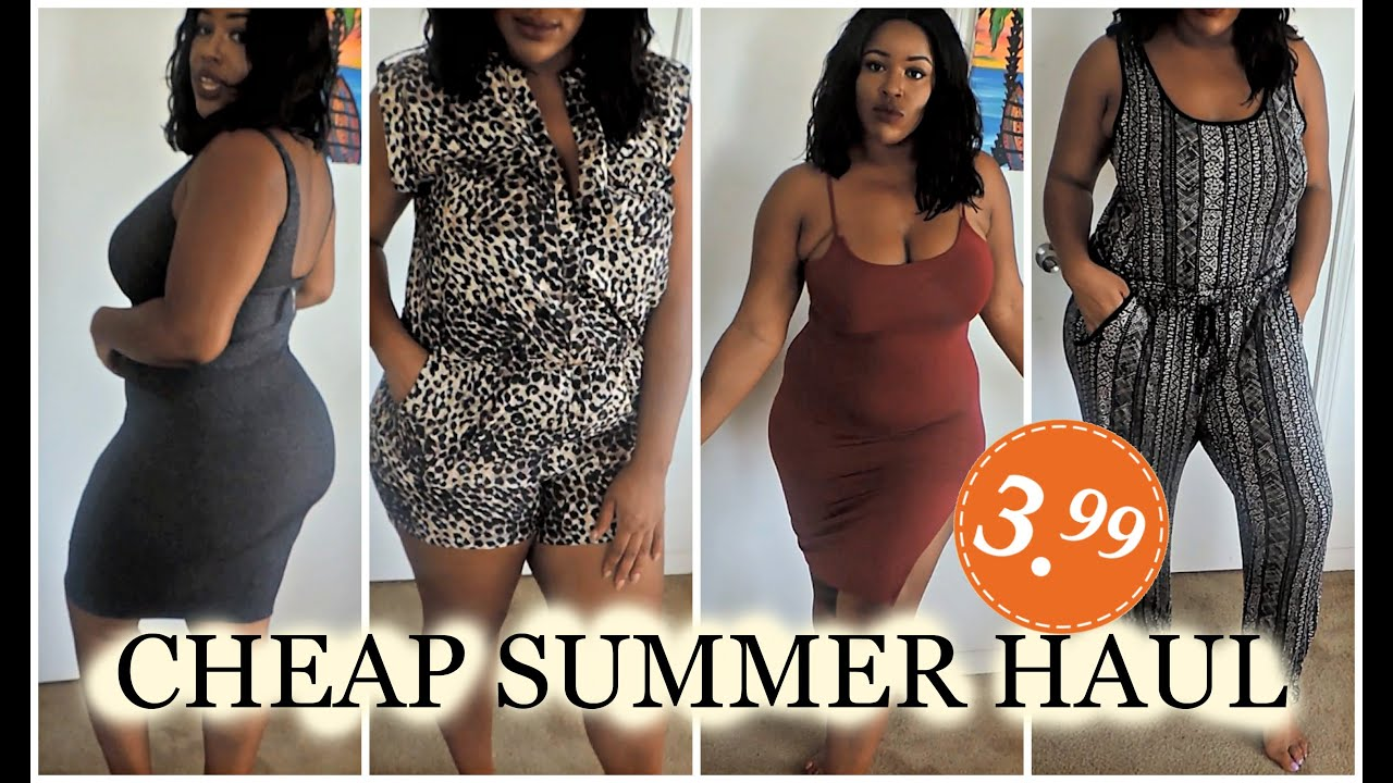 EVERYTHING $3.99 PLUS SIZE TRY-ON HAUL| FASHION Q & DDS DISCOUNTS ...