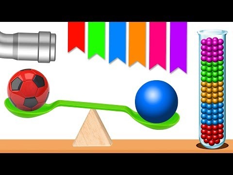 Soccer Balls balancing and getting crushed to Colorful Confettis | HooplaKidz EP8
