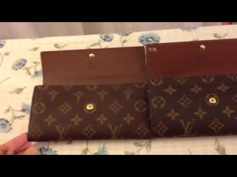 f7a9a1cd9e624 Louis vuitton Sarah wallet - YouTube