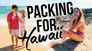 PACK WITH ME! What I'm Packing for Hawaii! Travel Hacks & Tips 2017