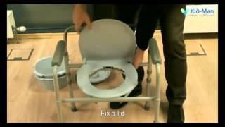 Foldable toilet frame