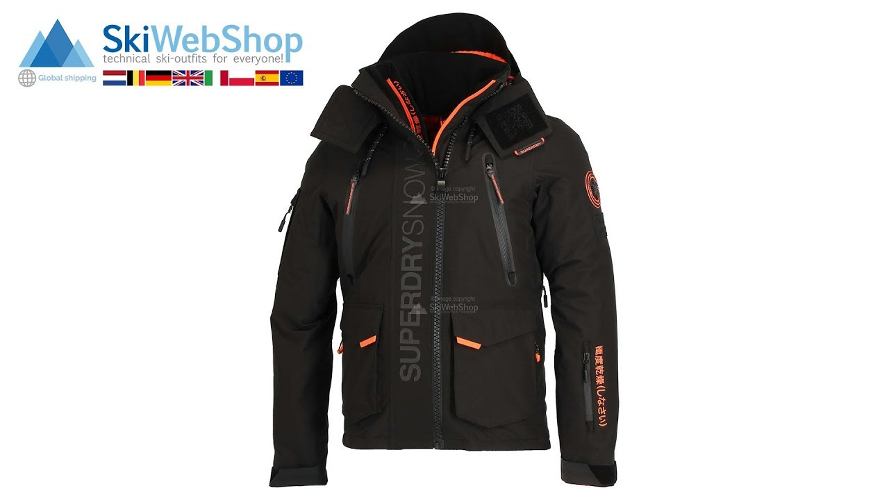 Superdry Ultimate Snow Rescue Black Ski Jacket Men Skiwebshop Youtube