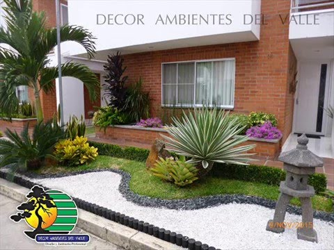 Ideas de jardines peque os decor ambientes del valle youtube for Jardines pequenos pegados a la pared