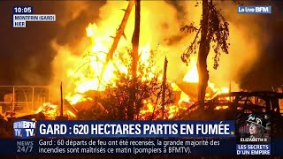 Les images des incendies qui ont ravagé le Gard cette nuit