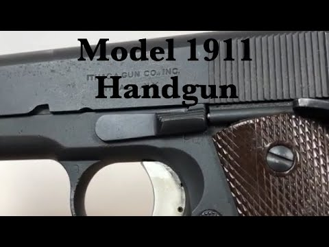 U.S. Army Ithaca M1911 .45 Military Service Pistol Yard Sale Find Customized Target Pistol Handgun