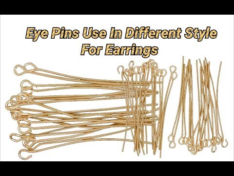 Eye pins use in different style for making earrings