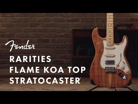 Rarities Flame Koa Top Stratocaster I Rarities Collection I Fender