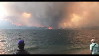 Raw Video: Wildfires in Glacier National Park (August 2018)
