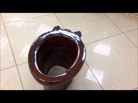 Унитаз для дачного туалета Portu коричневый. Santehklass.ru