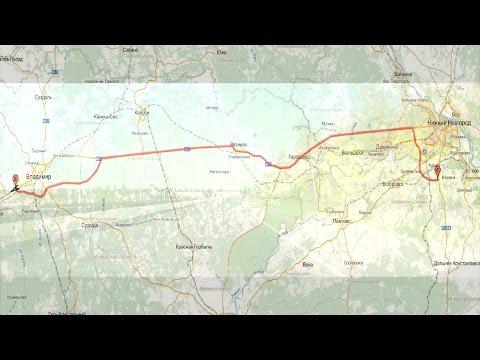 трасса М7: Владимир - Нижний Новгород   M7 Highway: Vladimir - Nizhniy Novgorod