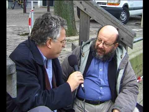 Luc Sala with Brian Winston film-expert 17 april 2001