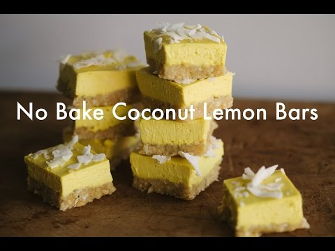 No Bake Coconut Lemon Bars (VEGAN)