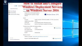 How to Install and Configure Windows Deployment Services on Windows Server 2016