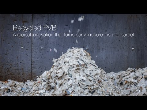 Interface | Recycled PVB: from windscreens to carpet