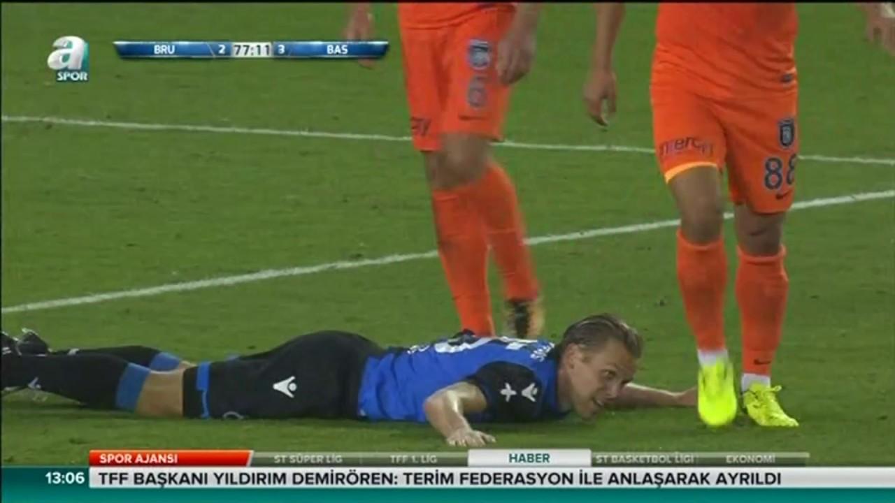 Club Brugge 3-3 Başakşehir Şampiyonlar Ligi 3. ön eleme | 26.07.2017 A Spor Özet HD