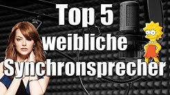 Top 5 - Synchronsprecherinnen