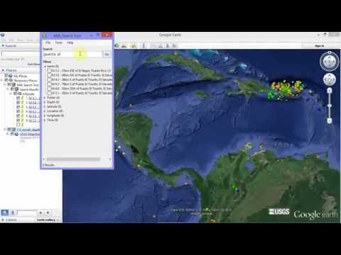 KML Search Tool - How to search for earthquakes