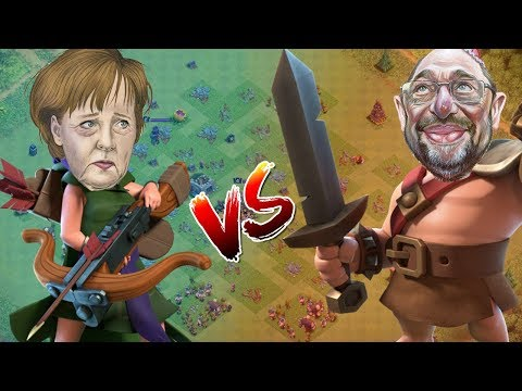 MERKEL vs SCHULZ - Das Kanzlerduell in Clash of Clans! [Deutsch German]