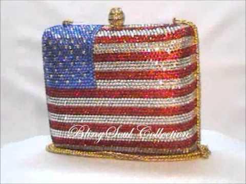 American Flag Evening Handbag
