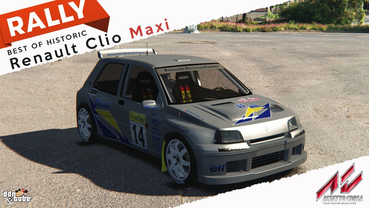 Assetto Corsa BEST OF HISTORIC RALLY CAR Renault Clio Maxi