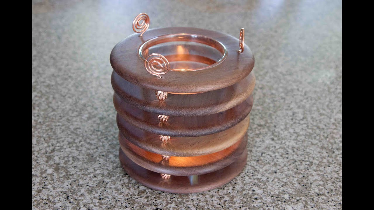 woodturning how to make a copper and walnut candle holder youtube. Black Bedroom Furniture Sets. Home Design Ideas