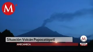 Suben alerta volcánica del Popocatépetl a Amarillo fase 3
