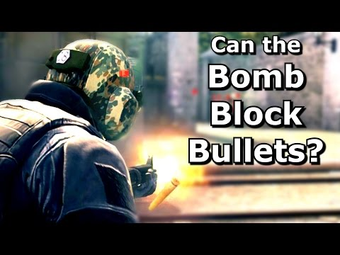 CS GO: Can bullets be blocked with thrown items?