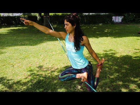 Slackline-Yoga Tutorial by Andrea Dattoli: The Dove Pose Part 1