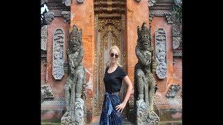Эмма Райман на Бали Часть 2 Храм Воды Лес Обезьян Балийская церемония