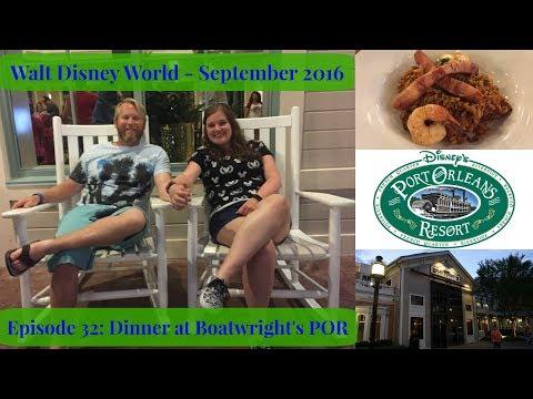 Episode 32: Dinner at Boatwright's Dining Hall at Port Orleans Riverside - WDW Vlog September 2016