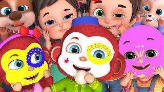 Ten Little Monkeys | Let's learn Numbers | for kids|  +More Nursery Rhymes & Baby songs - Jugnu Kids