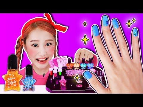 Let's make sparkling nail polishes!! MIMI Shiny Nail Polish Kit