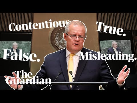 How does Scott Morrison's climate declaration at the United Nations stack up?