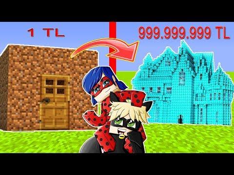 1TL'lik Ev VS 999,999,999TL'lik Ev! Minecraft Ev Kapışması