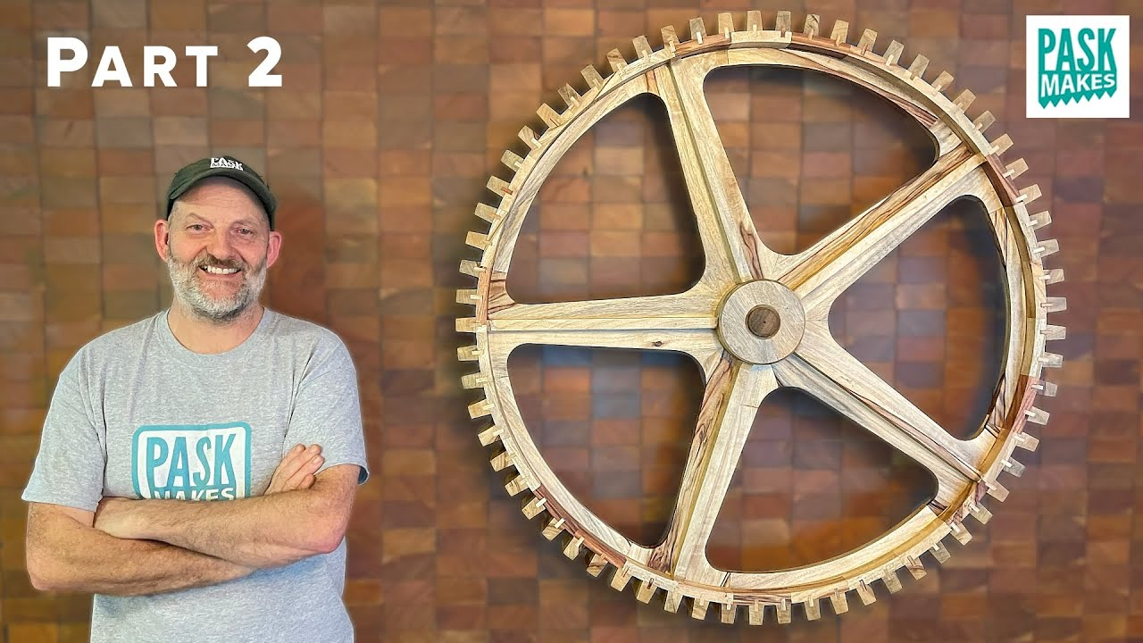 How to Make a Wooden Gear  -  Cool Wall Art  -  Part 2  -  Now Complete