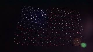 Fourth of July Intel Shooting Star Drone Light Show