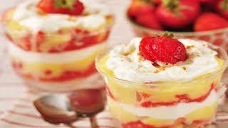 Strawberry & Lemon Curd Trifle Recipe Demonstration - Joyofbaking.com