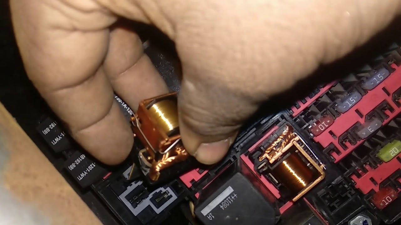 Ford Figo starting problem wiring socket & relay issue