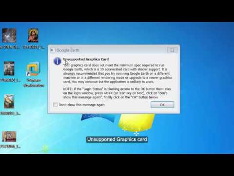 How to fix directx mode not supported (Unsupported Graphics Card) Google Earth