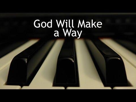 God Will Make a Way - piano instrumental cover with lyrics