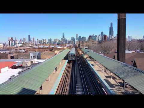 CTA Train Arriving Ashland Station