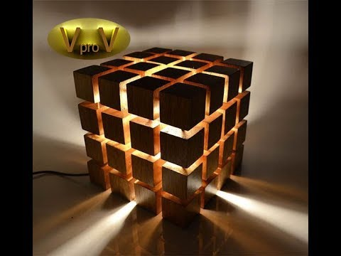 "DIY Led Desk Lamp EKO WOOD ""CUBE"""