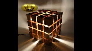 DIY Led Desk Lamp EKO WOOD