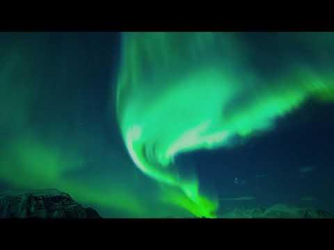 [10 Hours] Green Northern Lights Aurora Borealis #2 - Video & Original Sound [1080HD] SlowTV