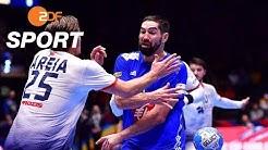 Frankreich - Portugal 25:28 - Highlights   Handball-EM 2020 - ZDF
