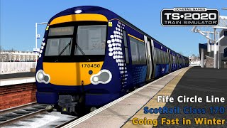 Going Fast in Winter - Fife Circle Line - Class 170 - Train Simulator 2020